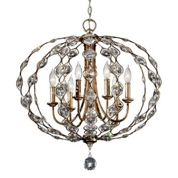 Kristal-kroonluchter Leila, 6-lamps