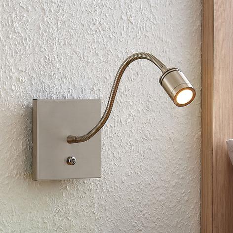 Lindby Legera -LED-seinälukuvalo joustovarrella
