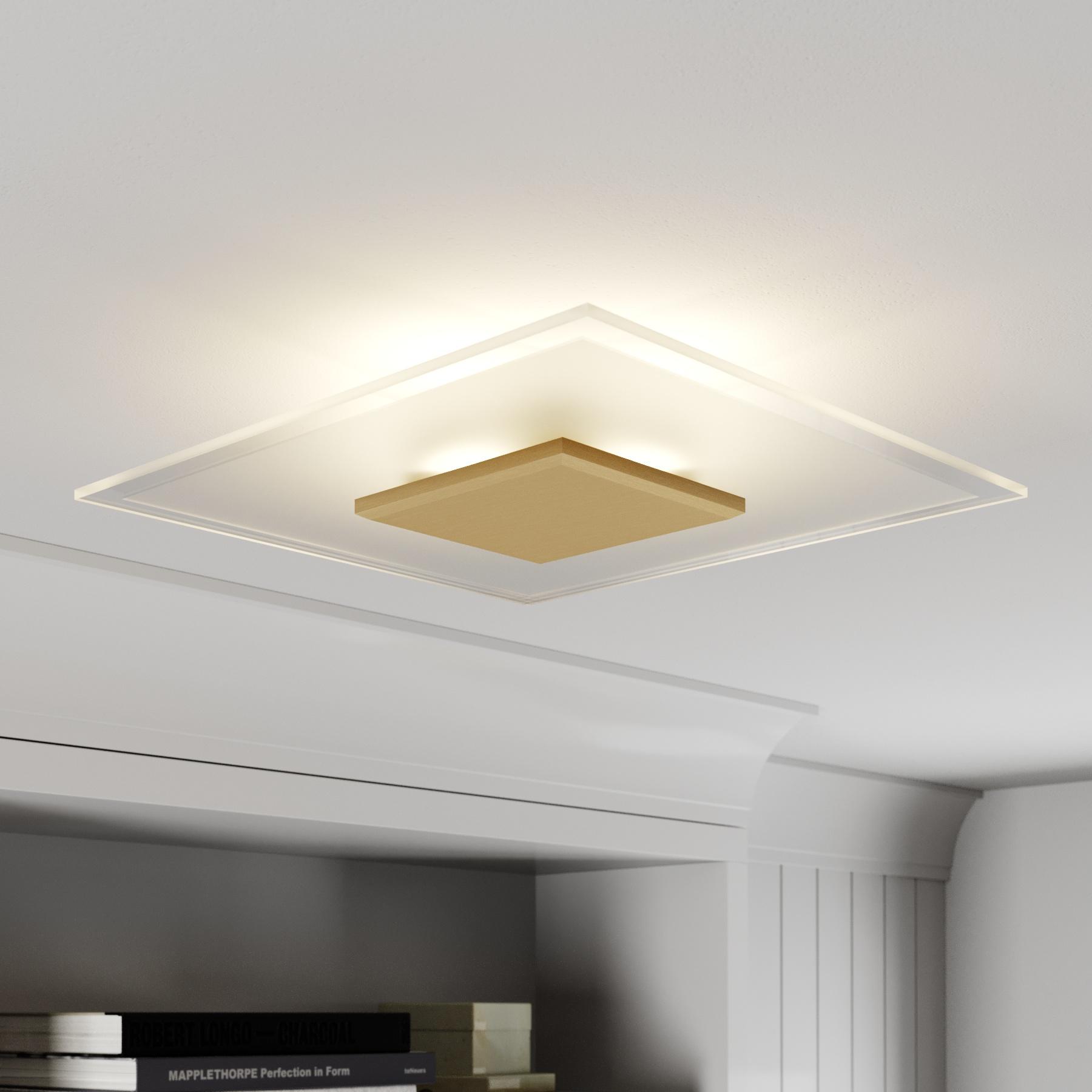 Lucande Lole plafondlamp, messing mat
