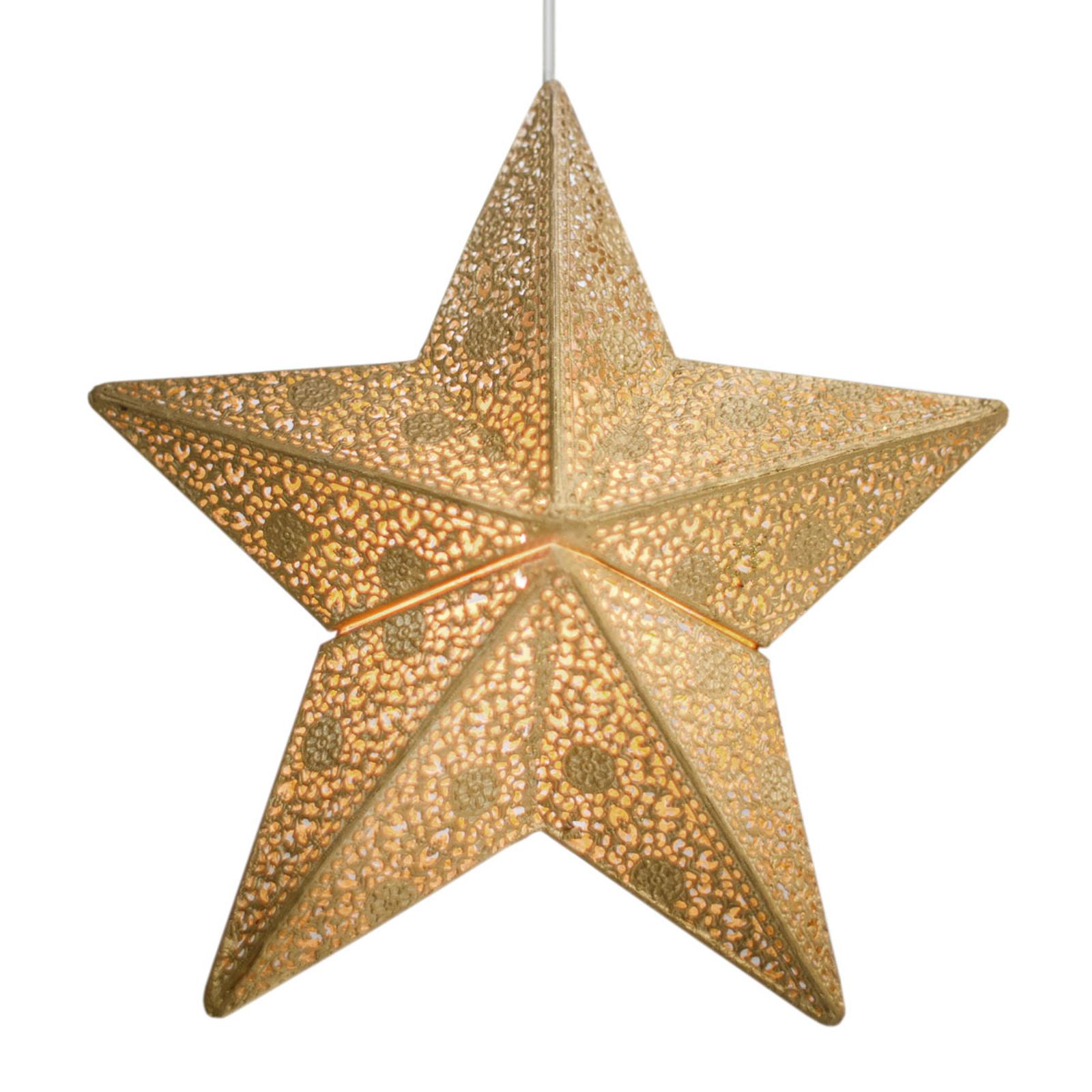 By Rydéns Etoile hänglampa, stjärna, 30 cm, guld