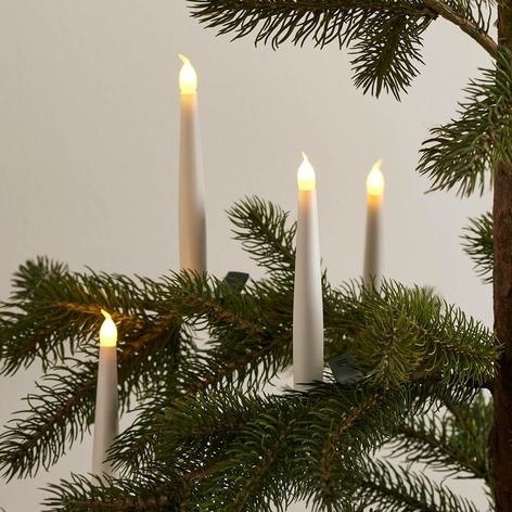 Set 4 luces sin cable de árbol de Navidad Carolin