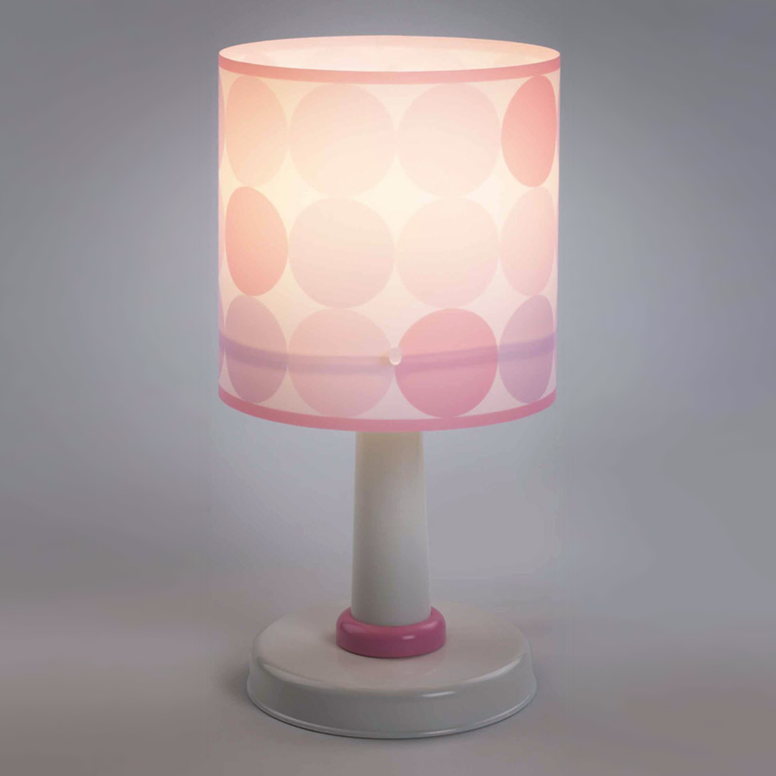 Colors – pilkullinen vaaleanpunainen pöytävalaisin