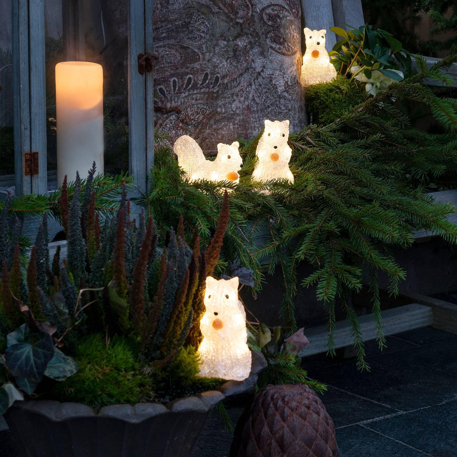Figurines LED Écureuil pour l'extérieur, lot de 5 ...