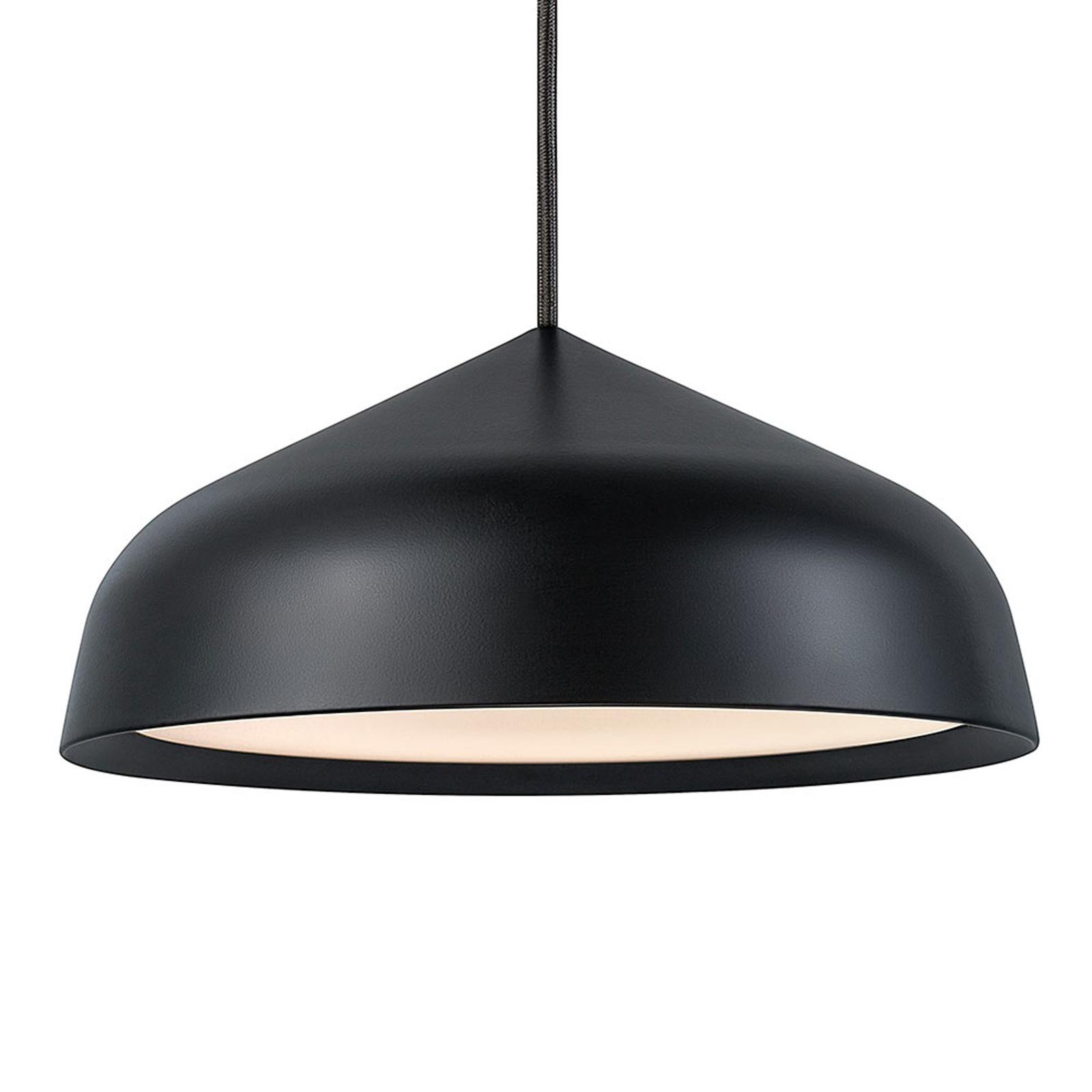 LED-Hängeleuchte Fura, 25 cm, schwarz