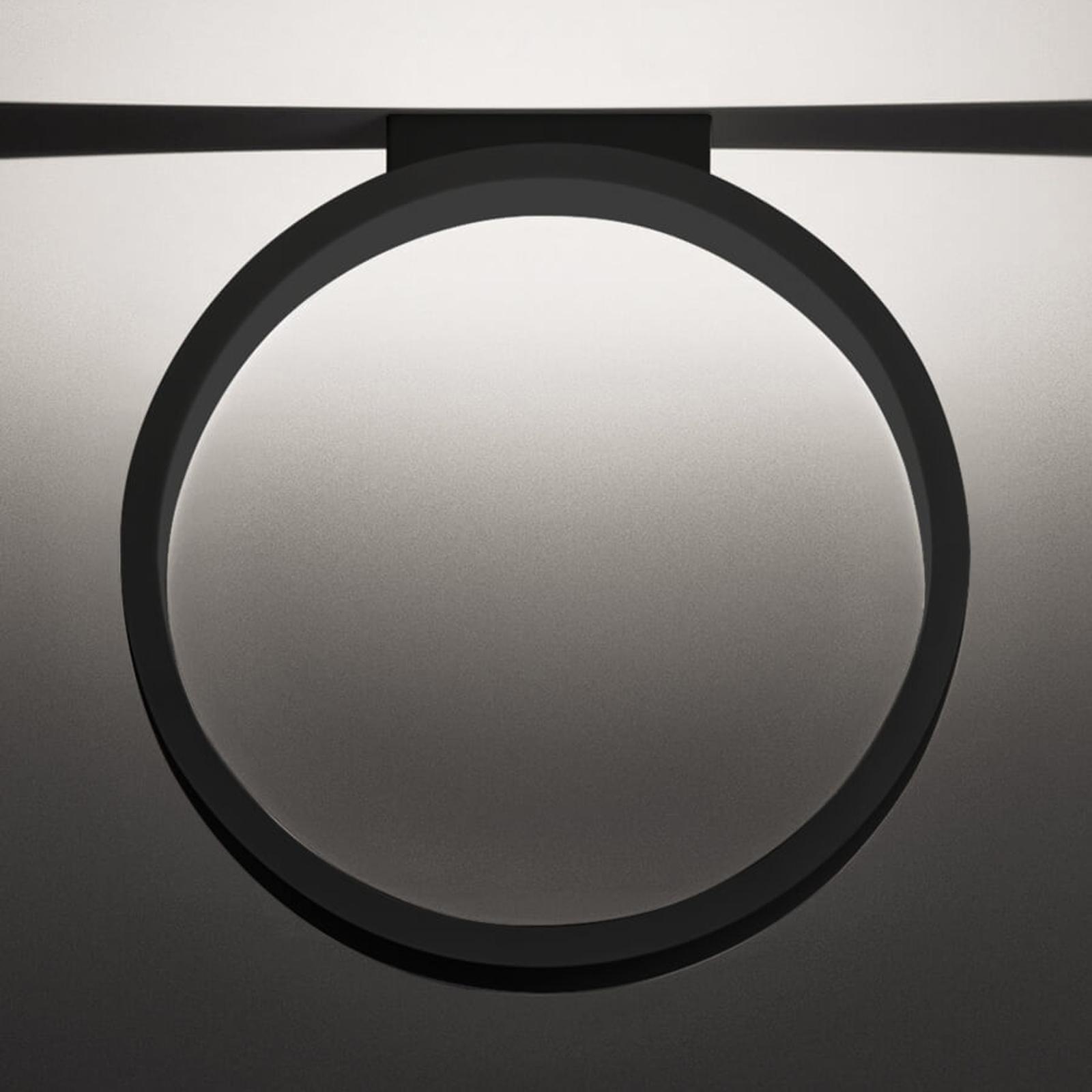 Plafonnier LED Assolo noir, 43 cm