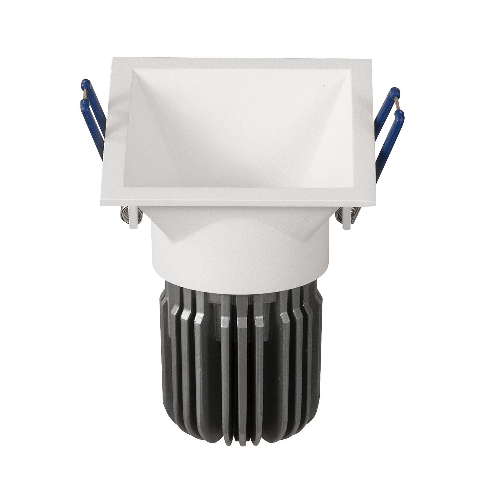 LED-Einbauspot Toodle eckig asymmetrisch, weiß