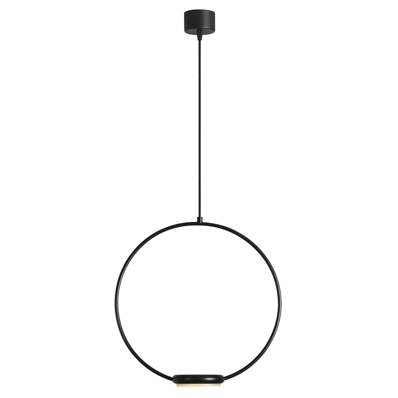 LED-Hängeleuchte Odigiotto in Schwarz