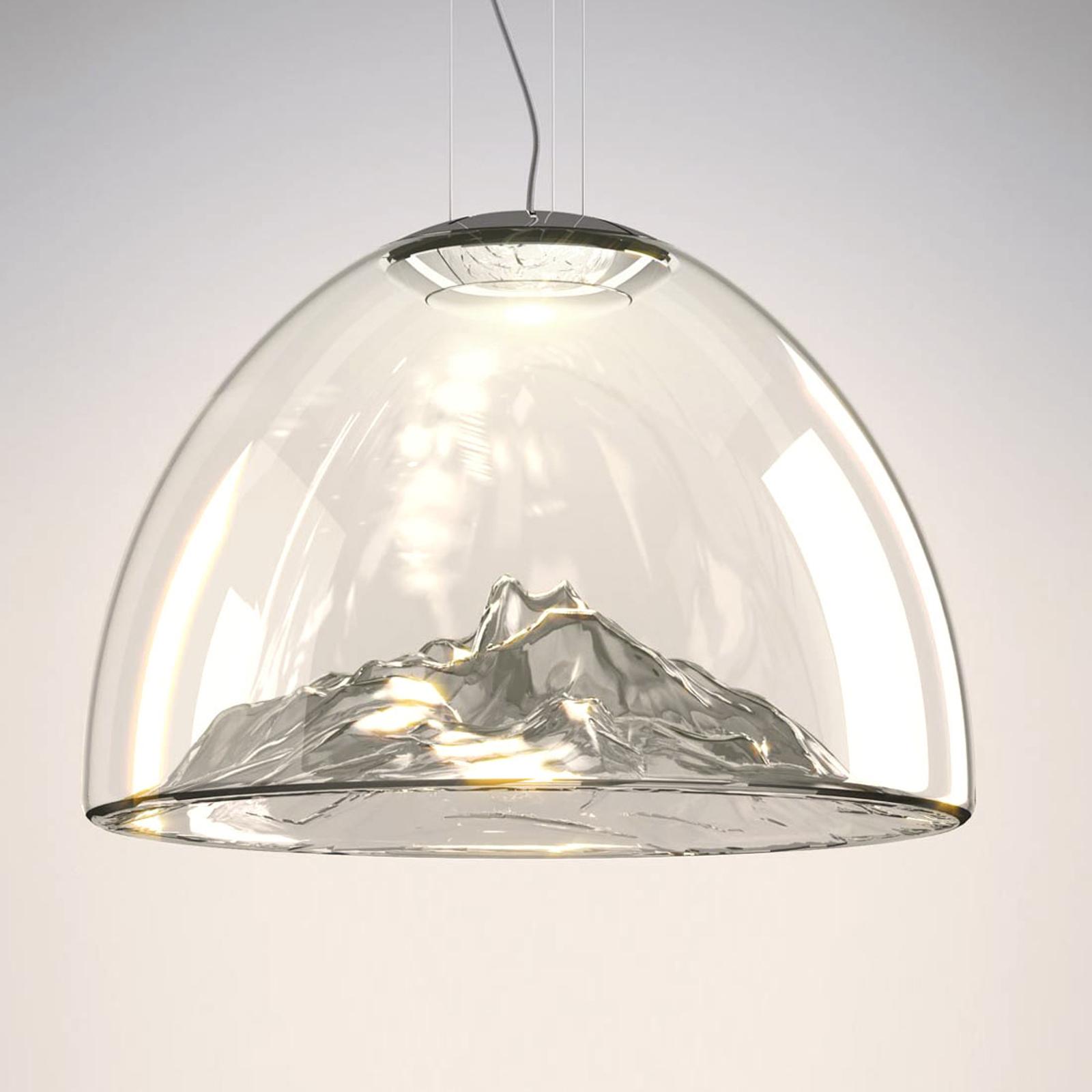 Axolight Mountain View - LED-pendellampe grå-krom