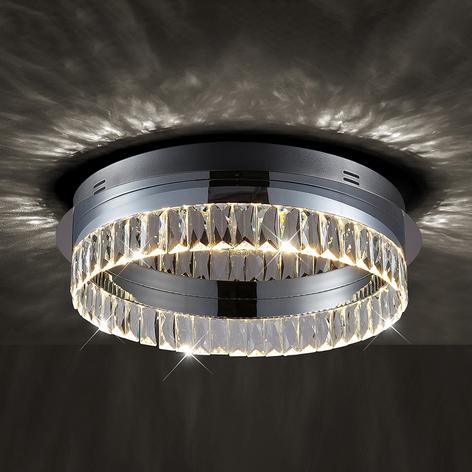 Stropní LED světlo Carmi, křišťálové, stmívatelné