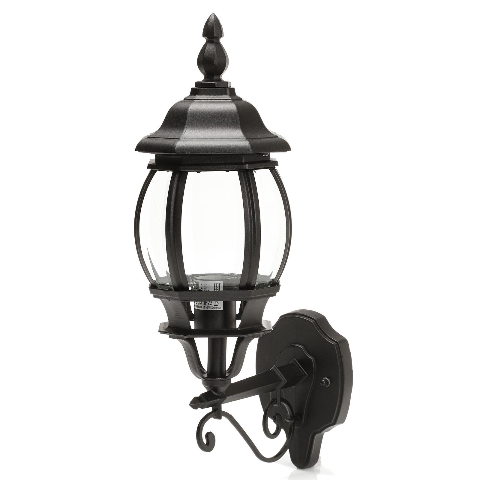 Charmante buitenwandlamp Istria I zwart