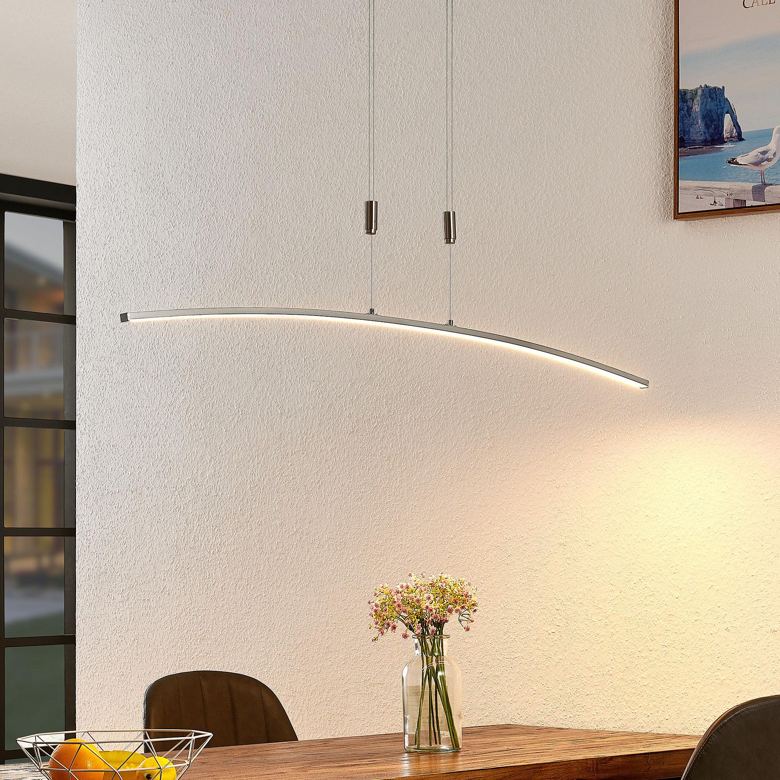 Lindby Phillie LED-Hängeleuchte, höhenverstellbar