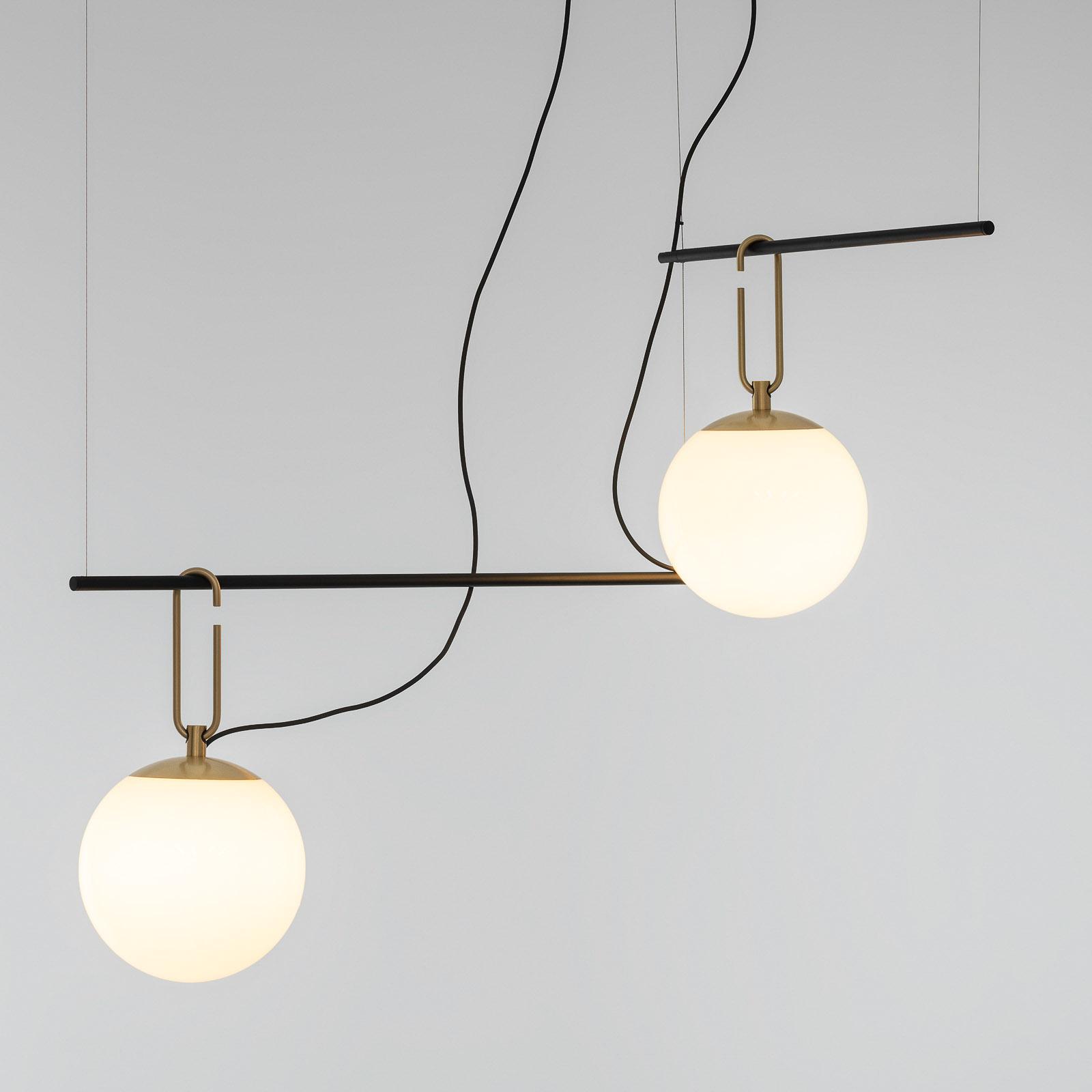 Artemide nh S3 2 suspension en verre, à 2 lampes