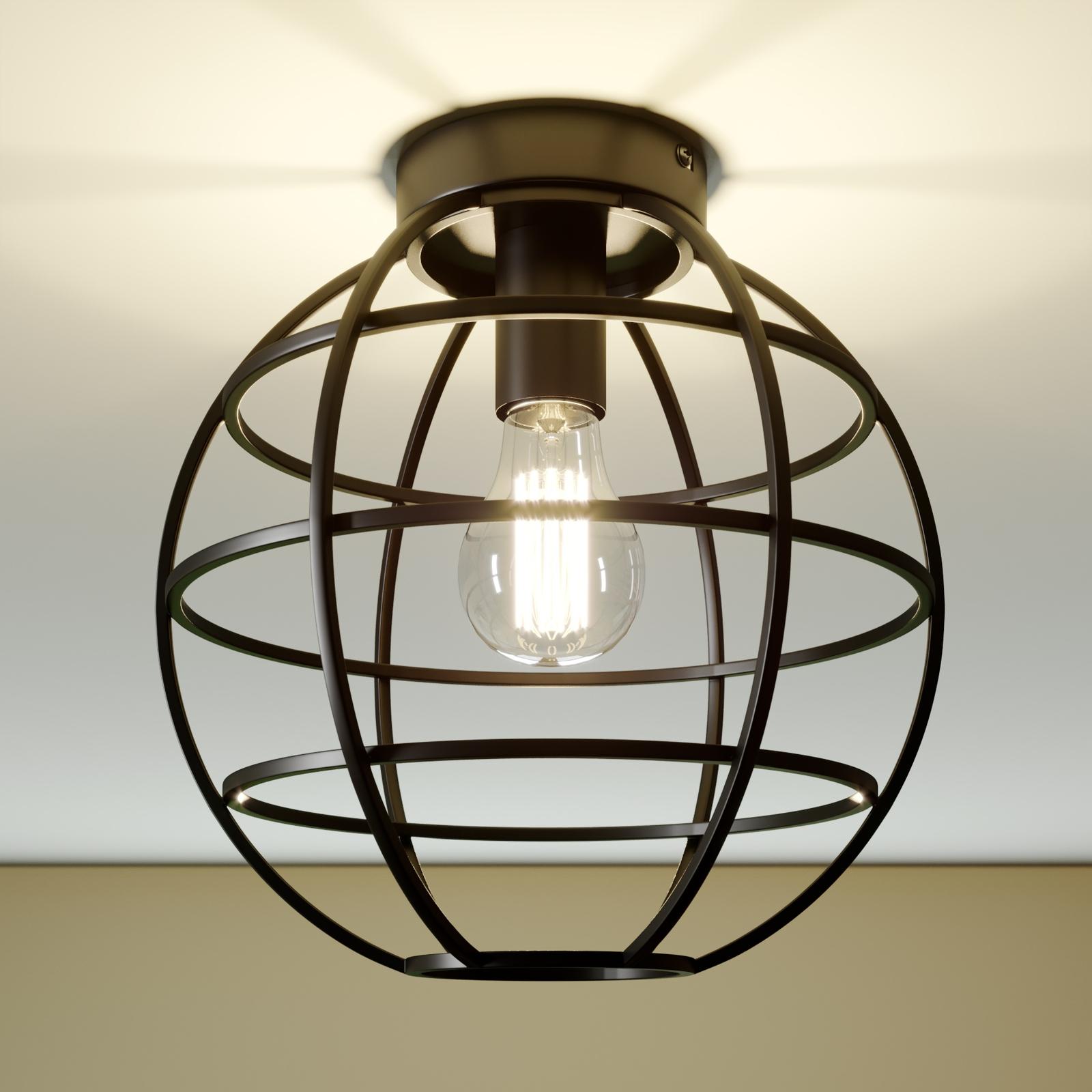 Lampa sufitowa klatka Bekira, czarna