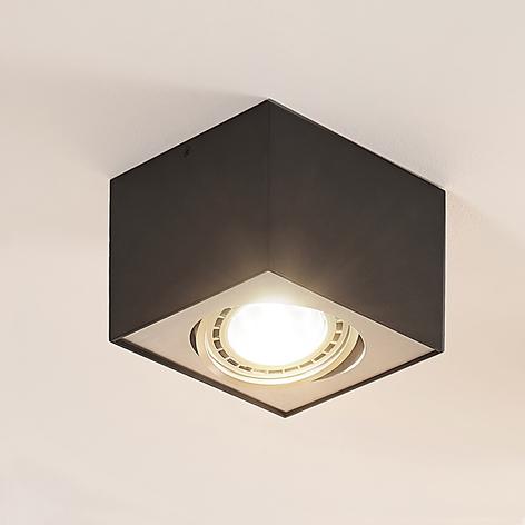 Arcchio Dwight spot pour plafond LED noir, 1 lampe