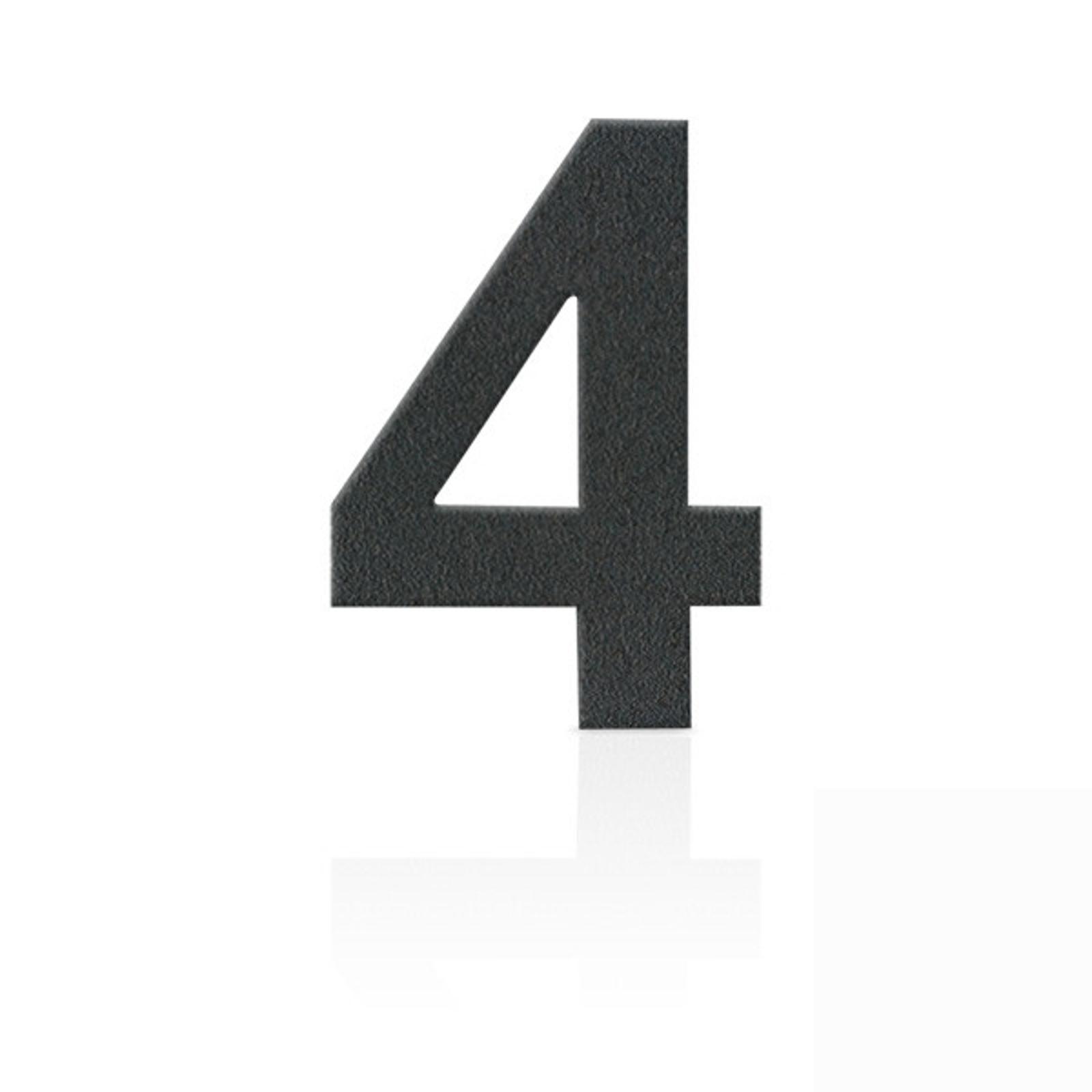 Produktové foto Heibi Nerezová domovní čísla číslice 4, grafit šedý