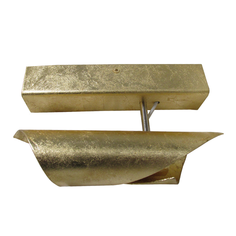 Knikerboker Hué applique LED 16cm oro in foglia