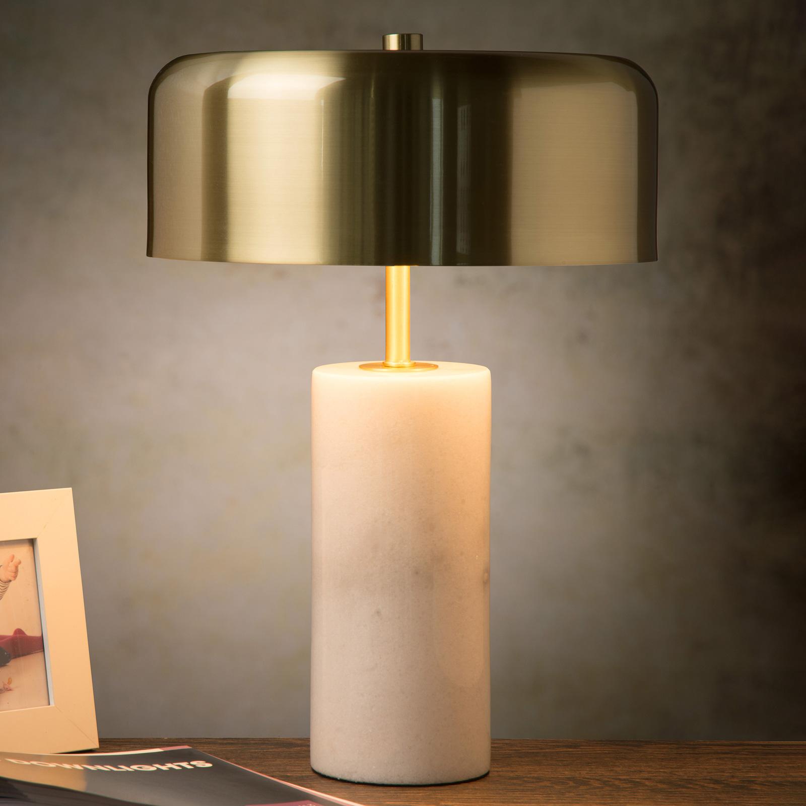 Tafellamp Mirasol witte marmer