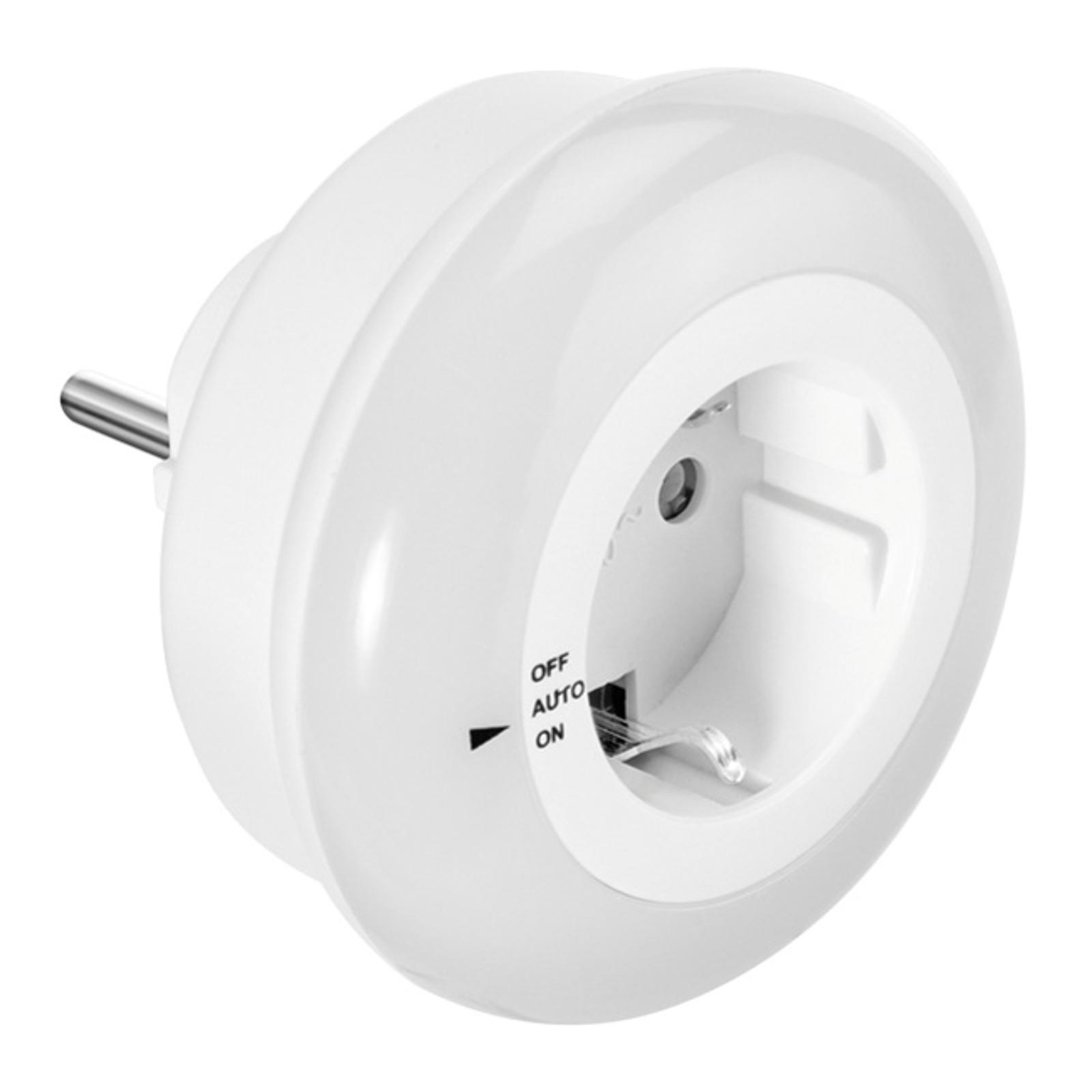 Okrúhle LED nočné svetlo LIV so zásuvkou