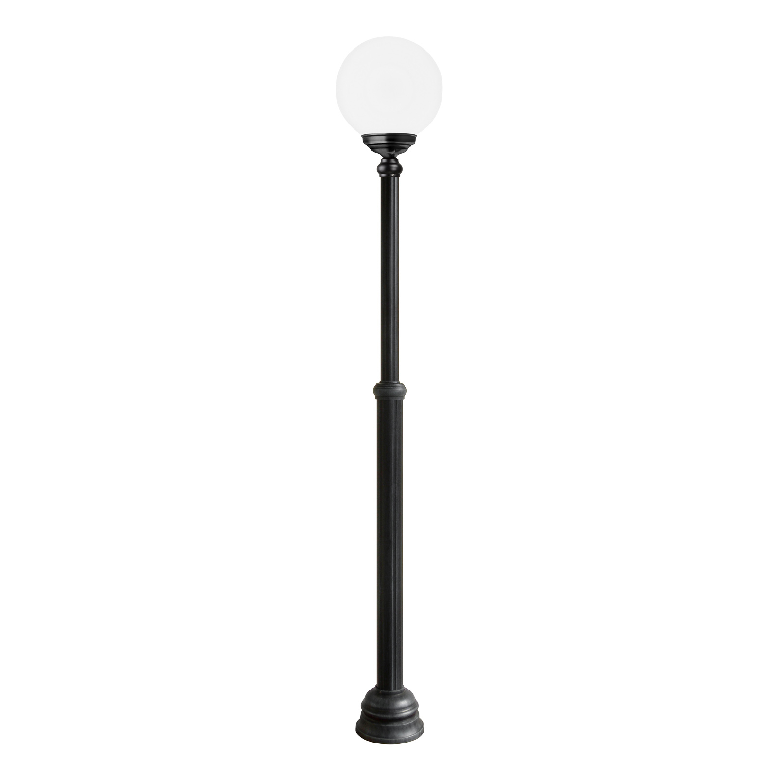 Lampadaire d'extérieur 1143, à 1 lampe, noir/blanc