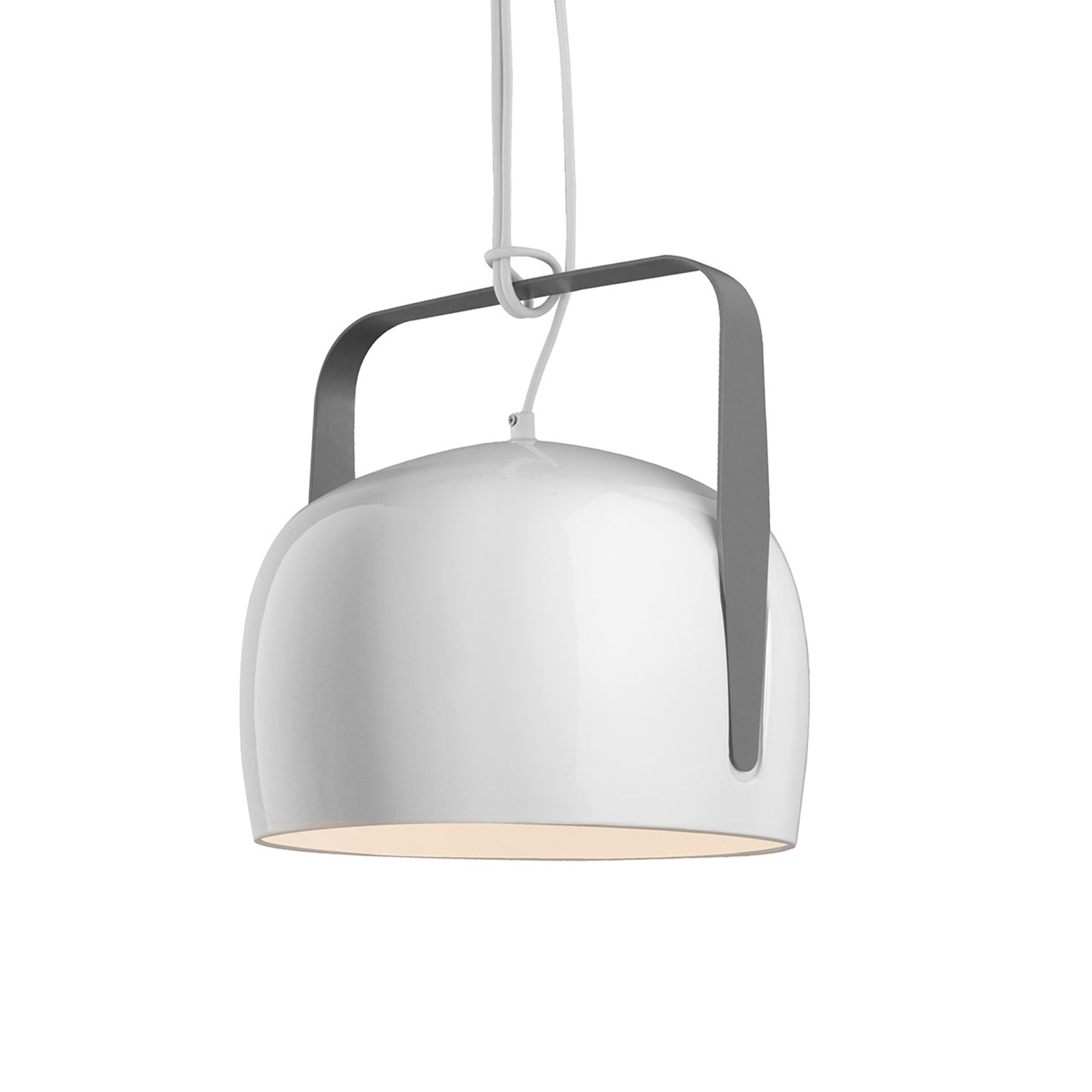 Karman Bag - suspension blanche Ø 21 cm, lisse