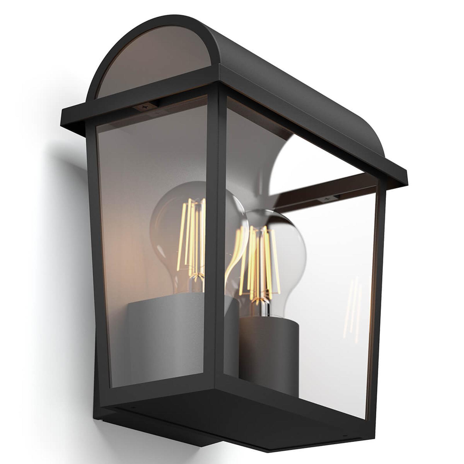 Philips myGarden Harvest schwarze Außenwandlampe
