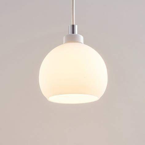 LED-Pendellampe Kimi f. 1-Phasen-Schiene, weiß