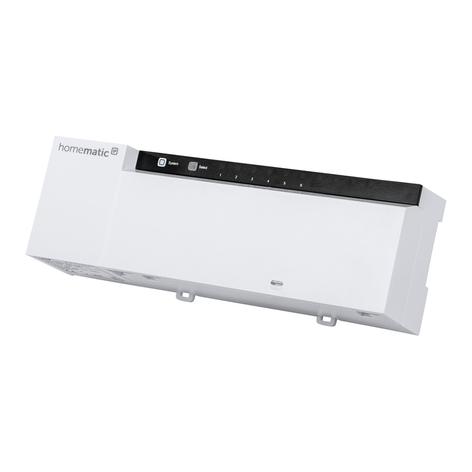 Homematic IP gulvvarmeaktuator, 6-delt, 230 V