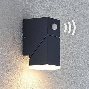 Kinkiet zewnętrzny LED Sally, 1-punktowy, czujnik