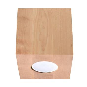 Deckenleuchte Ara als Würfel aus Holz