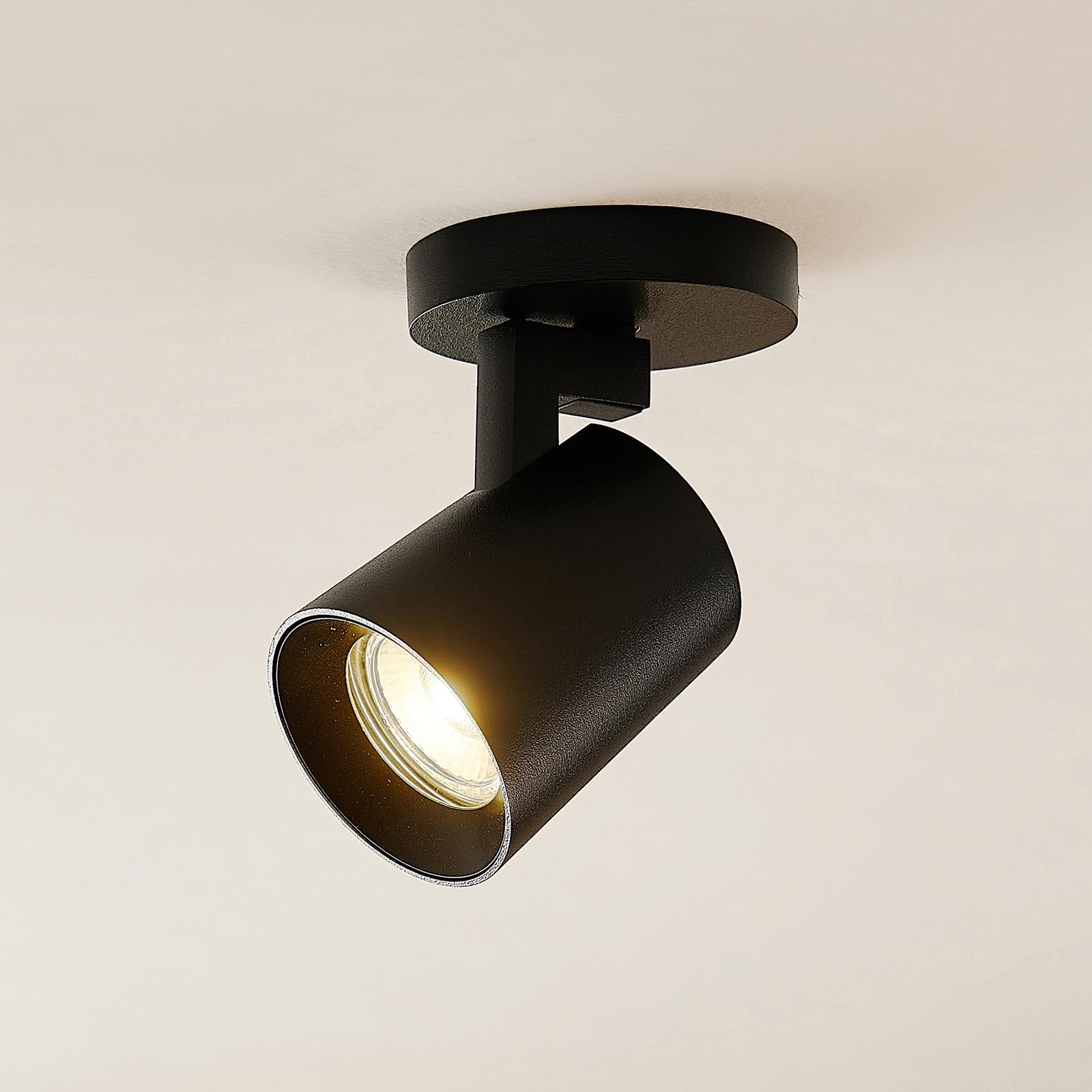Arcchio Iavo spotlight, rund, 1 lampa, svart