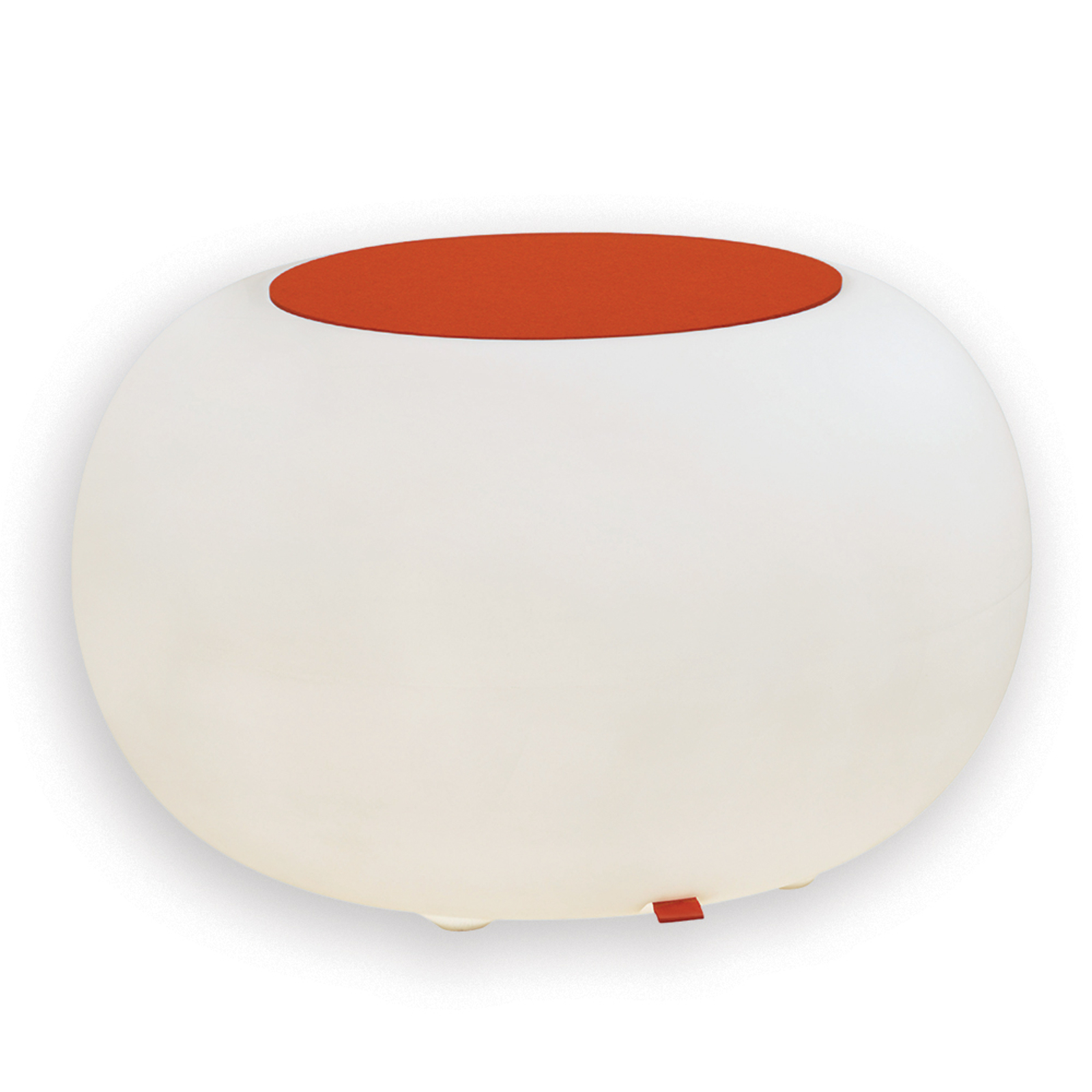 Bubble LED ACCU Outdoor mesa forro fieltro naranja