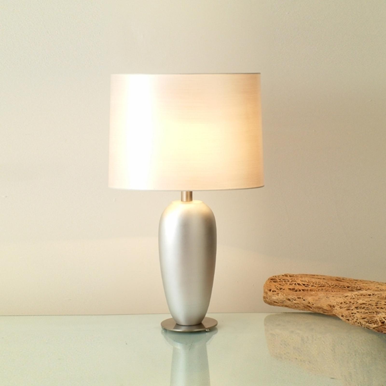Lampe à poser argentée LAMBDA, hauteur 65 cm