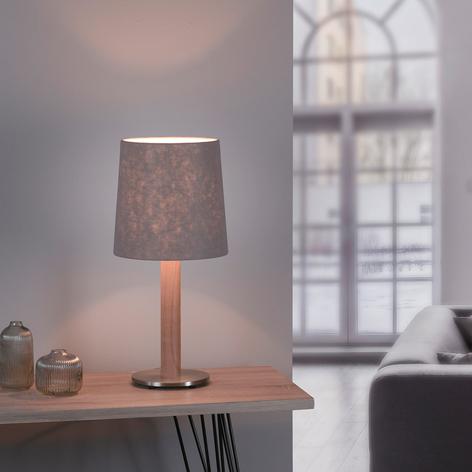 Lucande Elif stolní lampa plsť válec dub přírodní