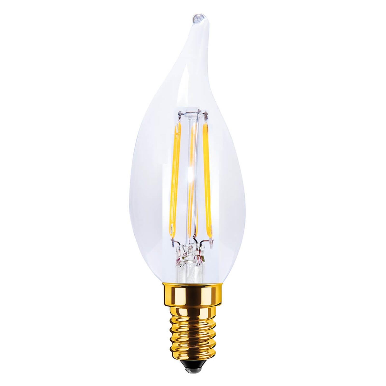 Ampoule flamme LED E14 3,5W 922 transparente