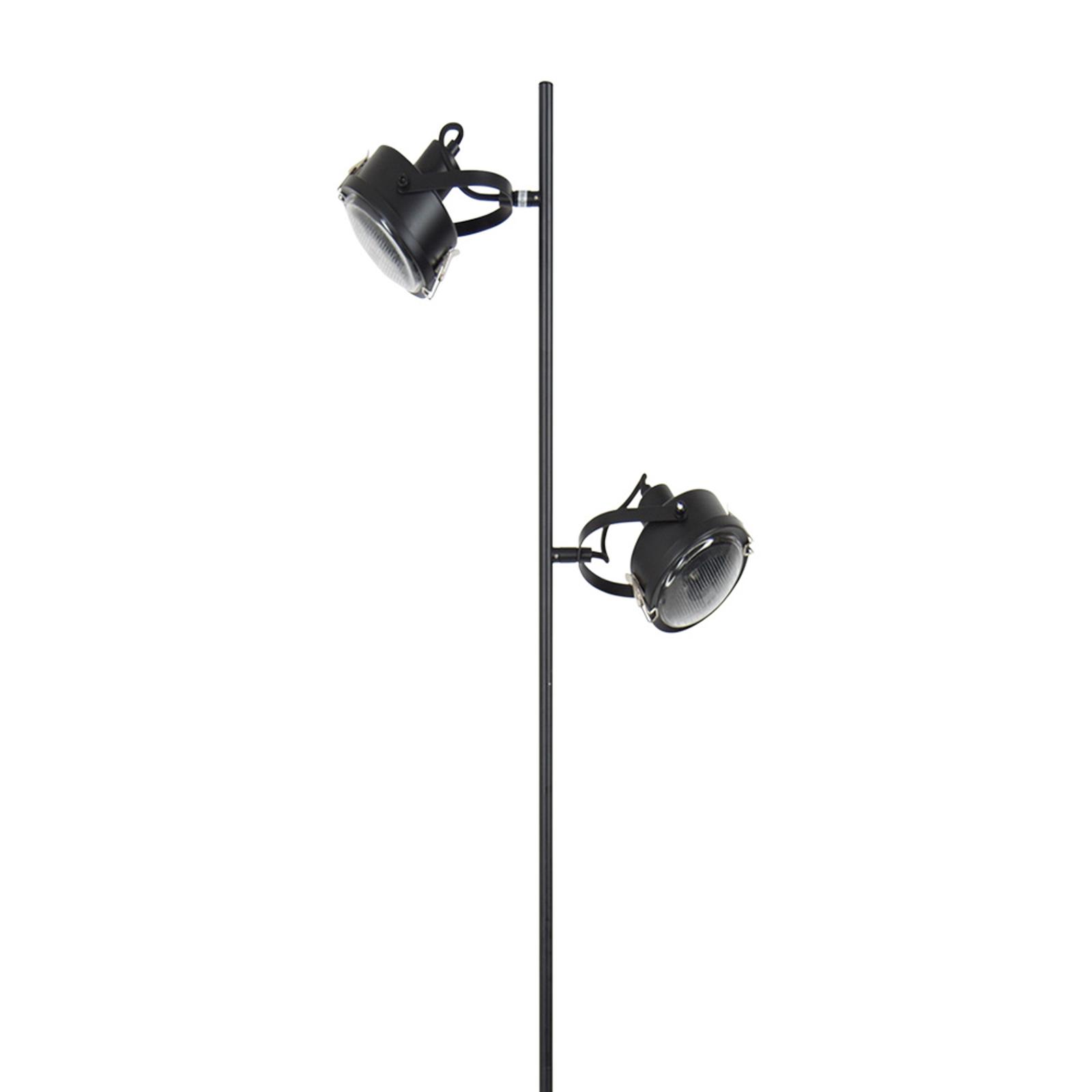 Lampadaire Satellite à 2 lampes en noir