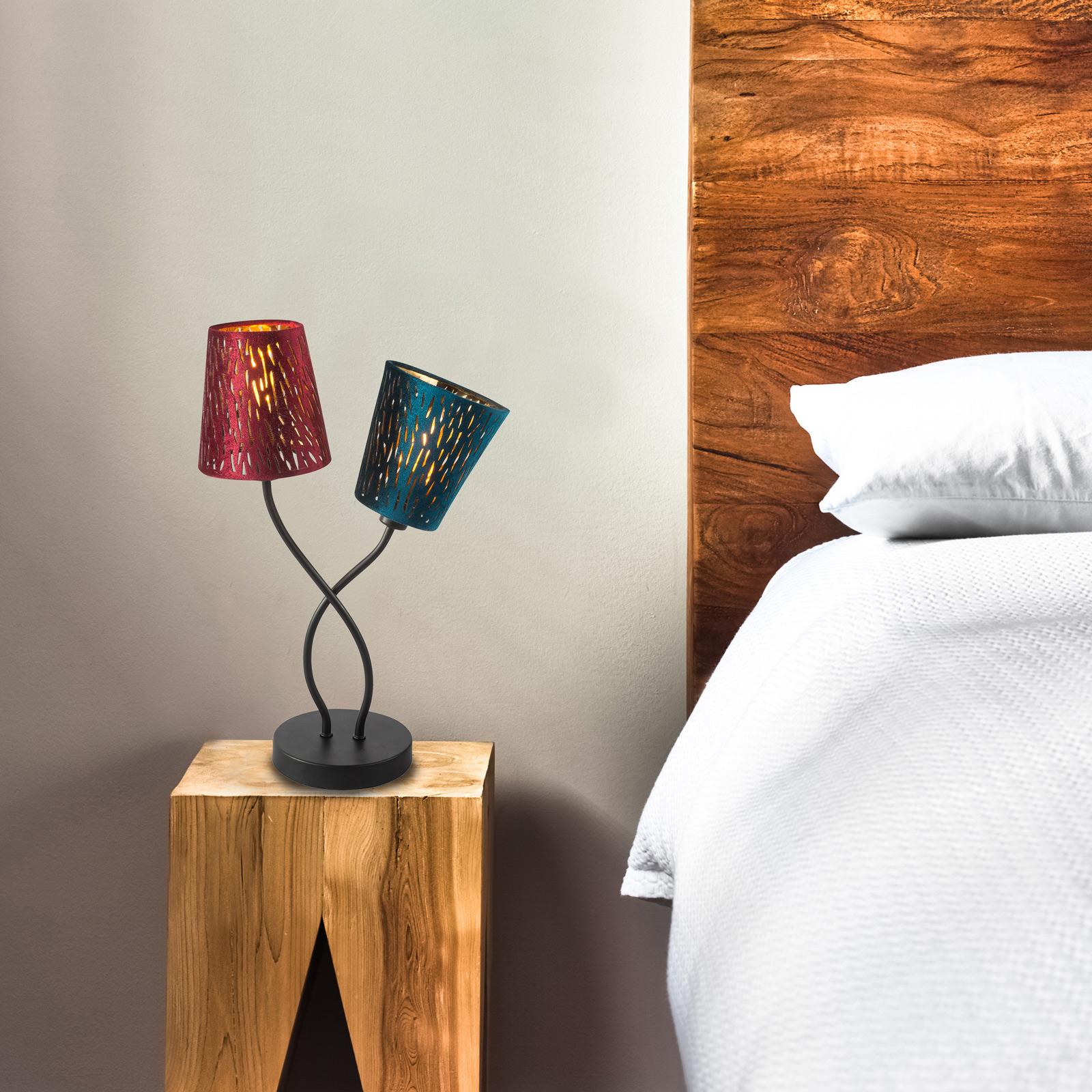 Ticon - lampe à poser avec deux abat-jour colorés