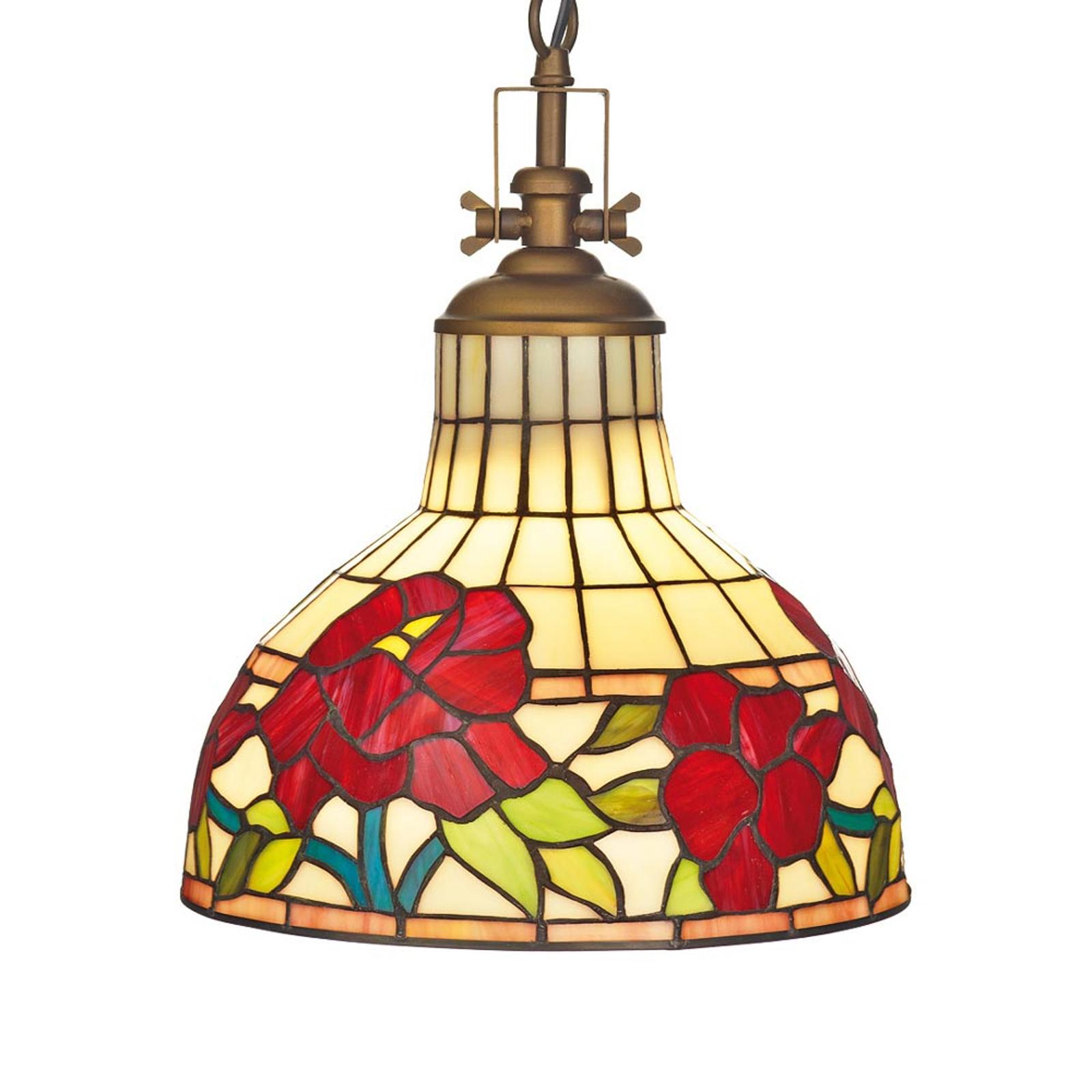Lampa wisząca Yria w stylu Tiffany