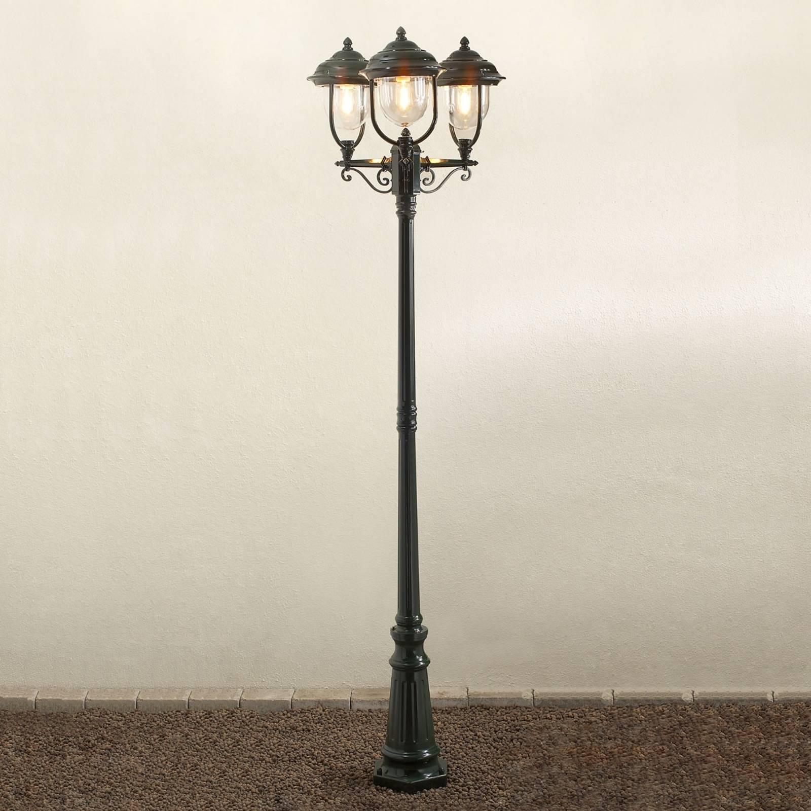 Romantyczna latarnia 3-punktowa PARMA, zielona