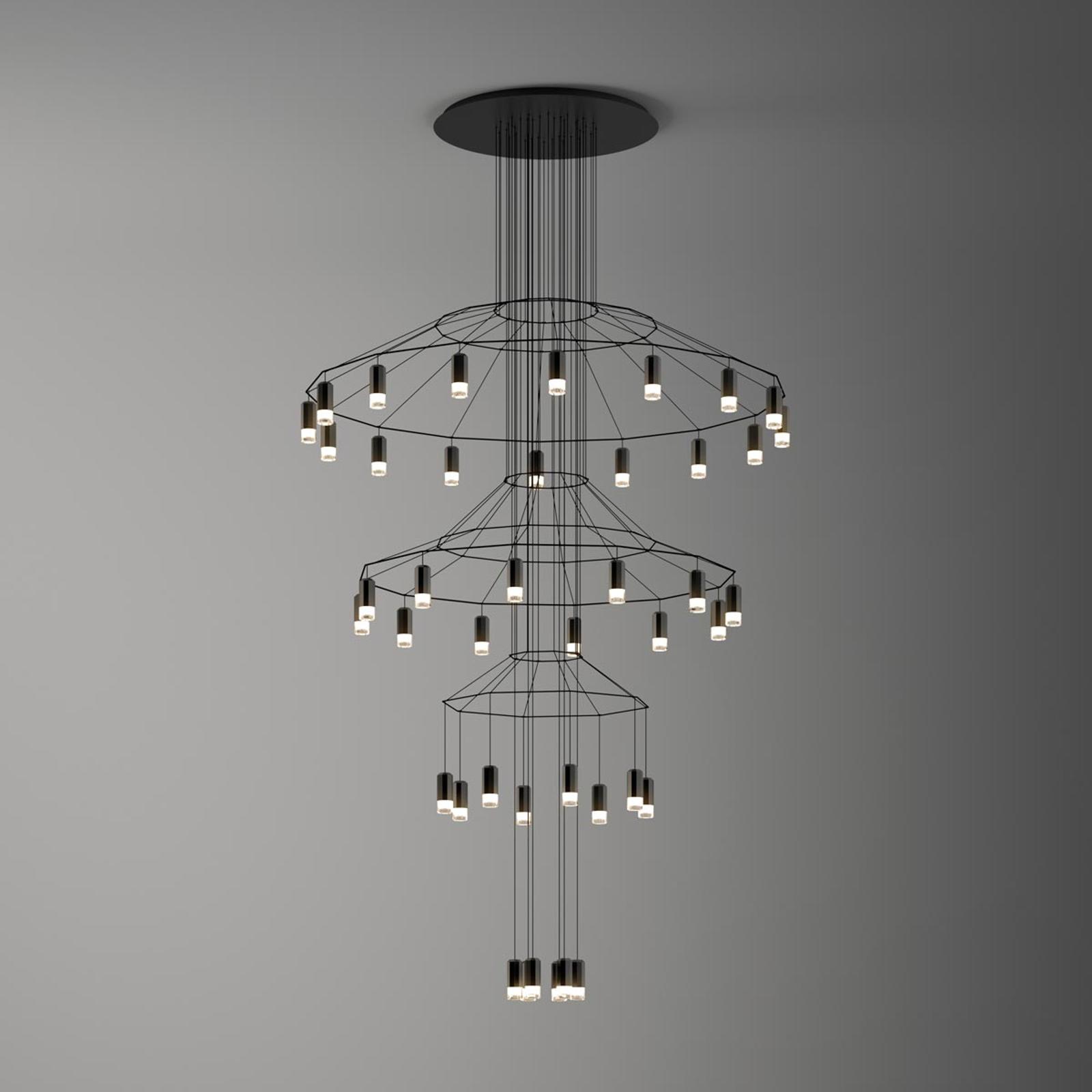 Imposant LED-pendellampa Wireflow