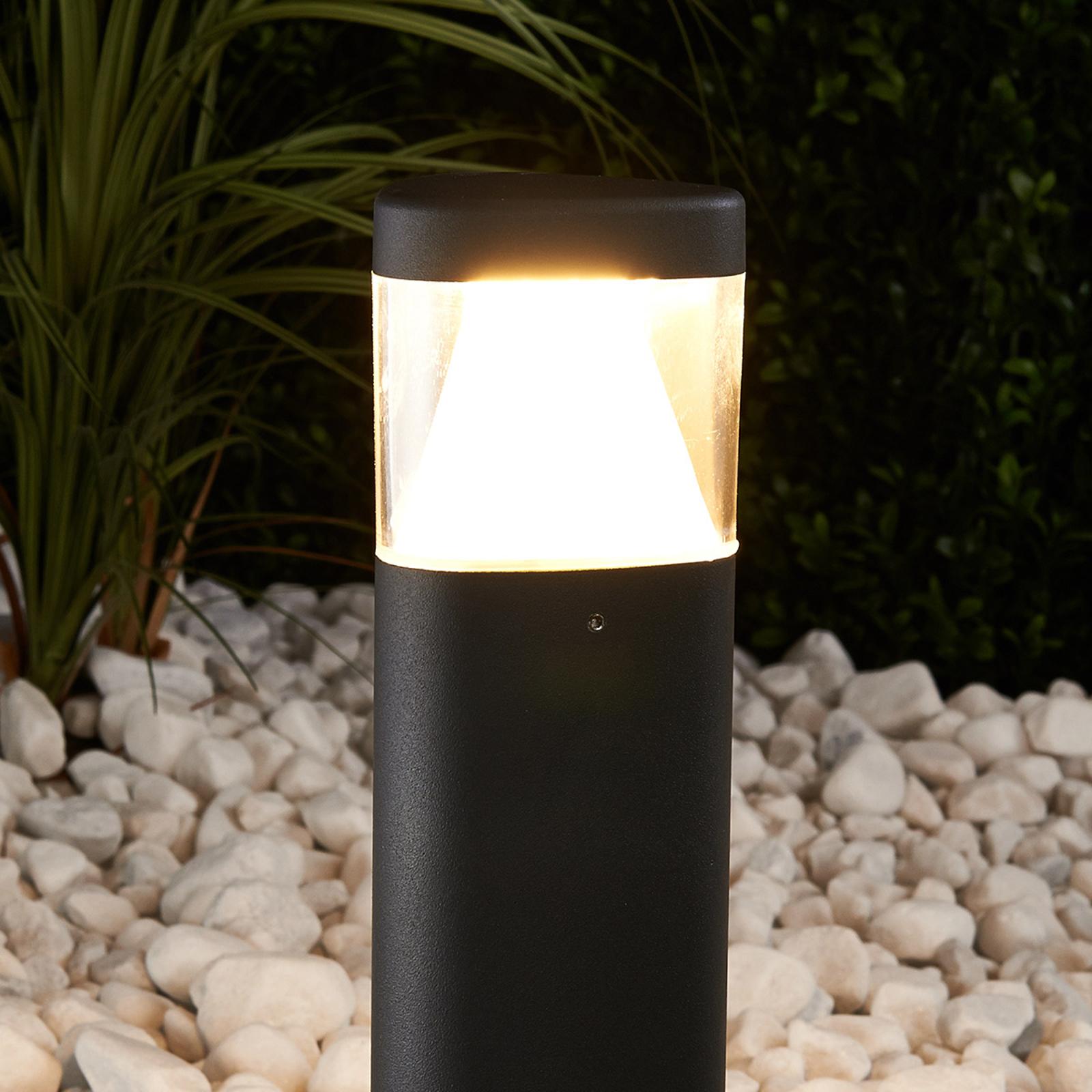 Dunkelgraue LED-Sockelleuchte Milou