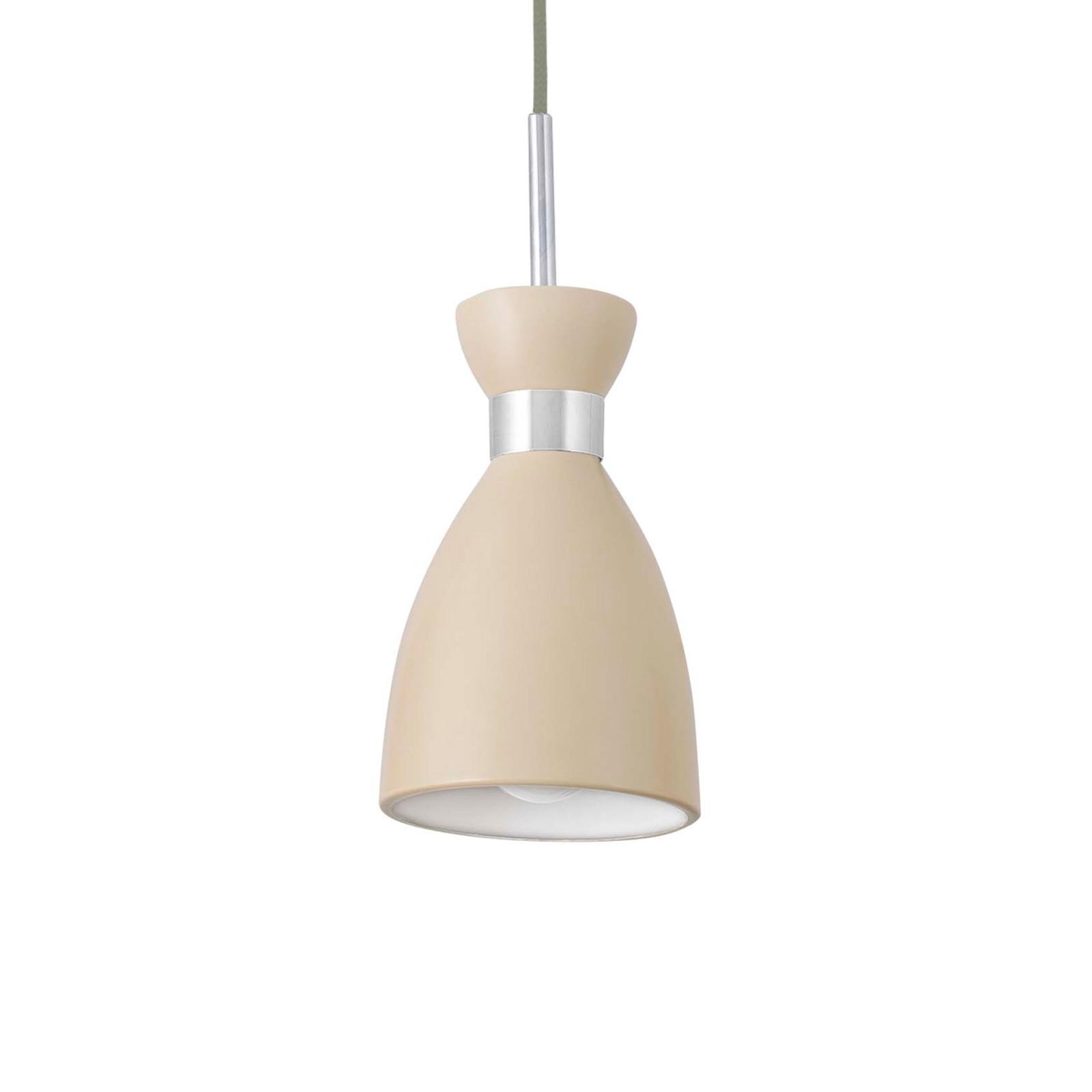 Beżowa lampa wisząca Retro