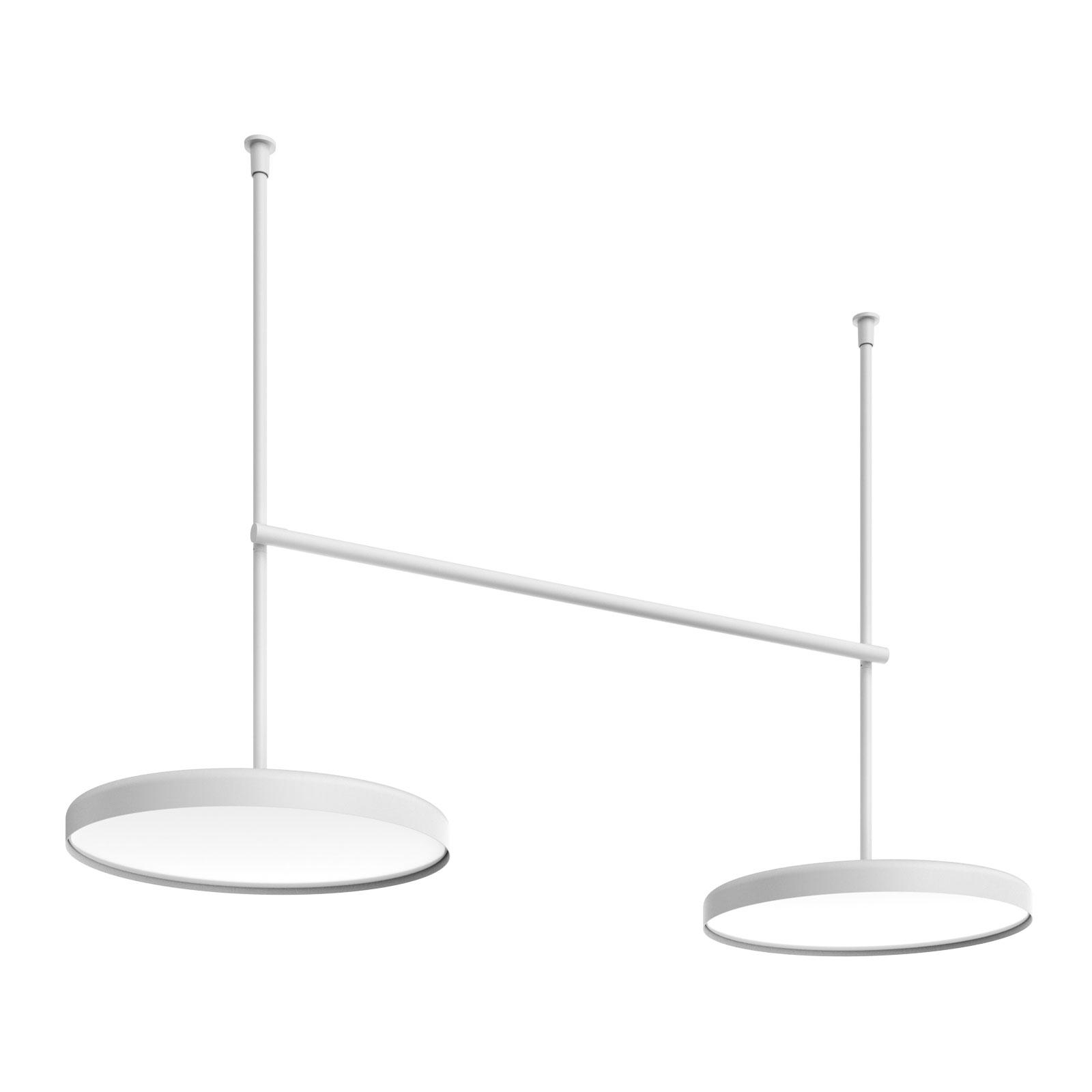 FLOS Infra-Structure C4 LED-taklampe, hvit