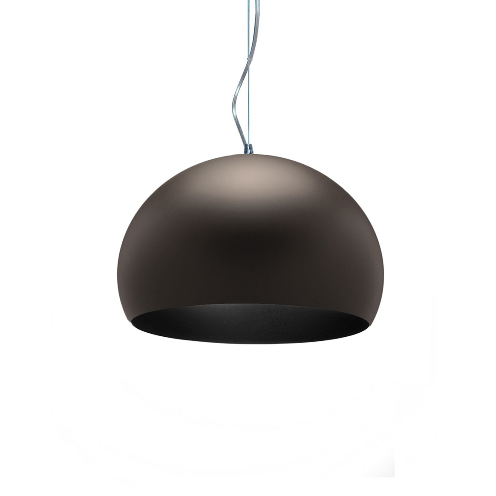 Kartell Small FL/Y LED-Hängeleuchte braun matt