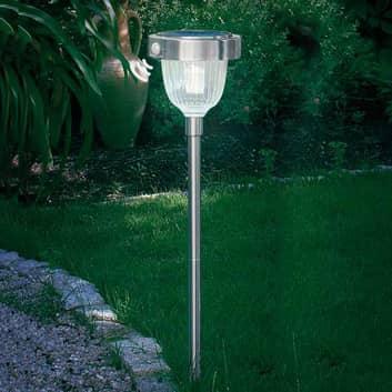 Asinara LED-Solar-PIR Leuchte Edelstahl
