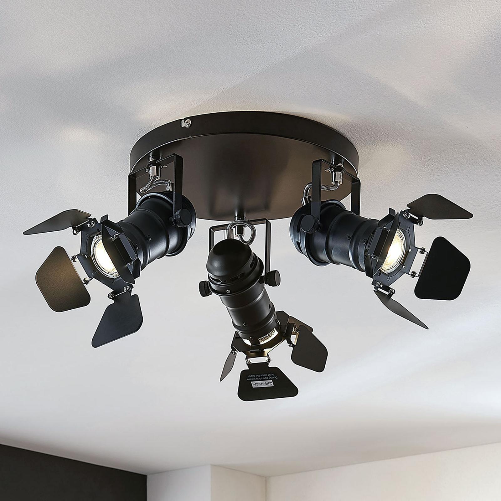 Lampa sufitowa Tilen, 3-pkt. w stylu reflektorów