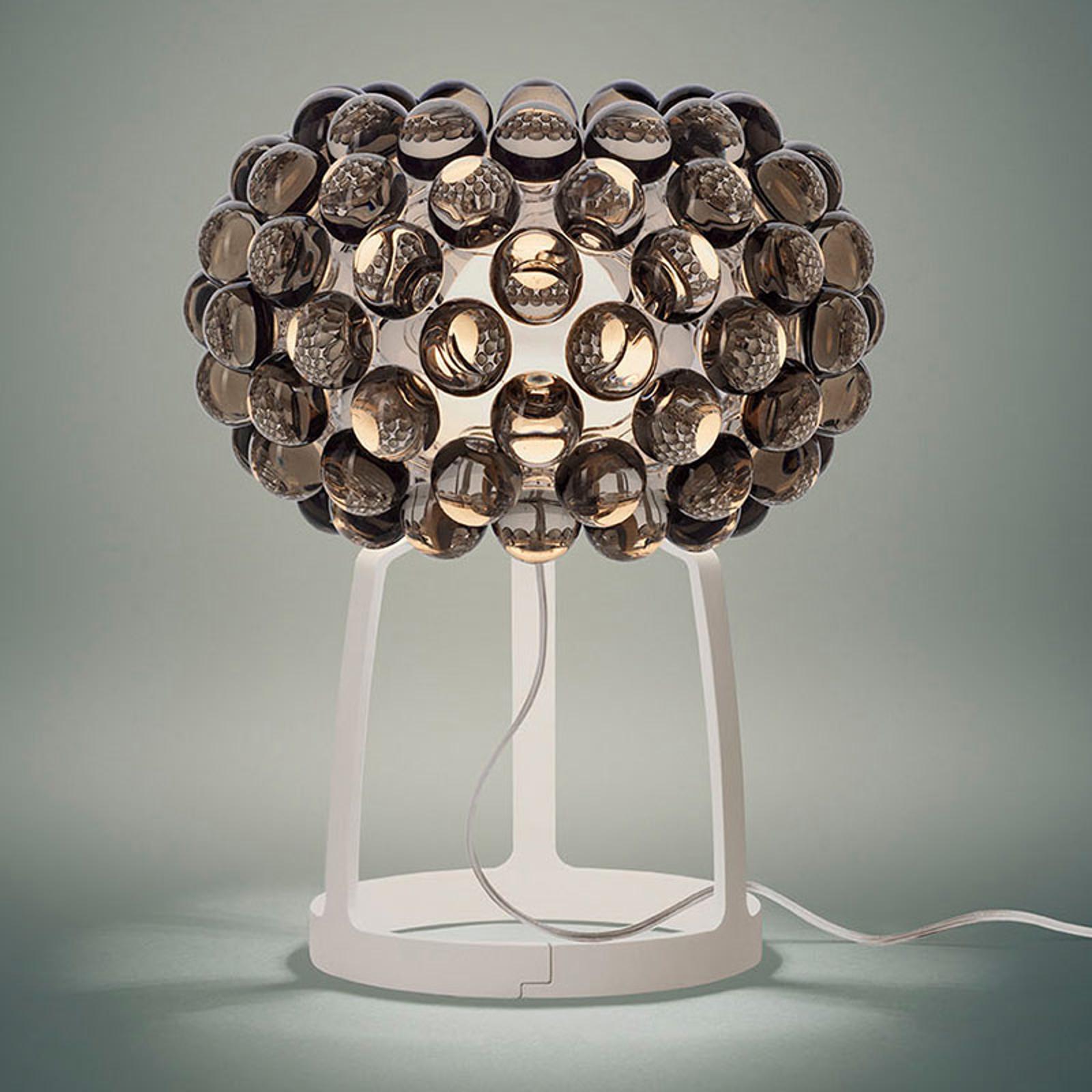 Foscarini Caboche Plus lampa stołowa LED szary dym