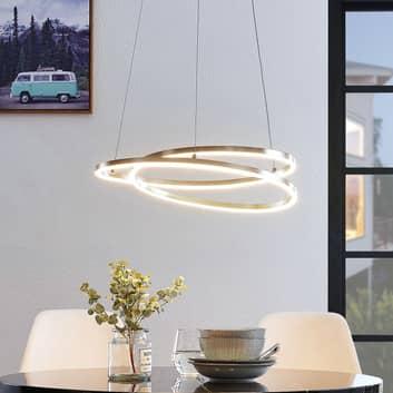 Lindby Davian LED-Hängeleuchte, dimmbar, nickel