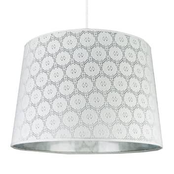 Lámpara colgante Rustica, patrón blanco de encaje