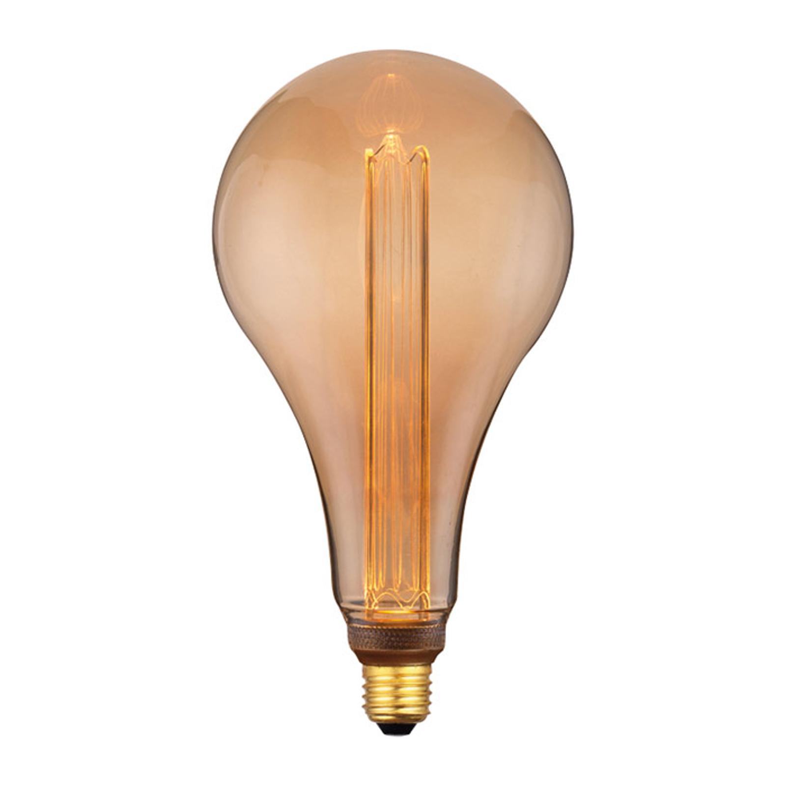 LED-Lampe E27 5W, warmweiß, 3-Step-dim, gold, 30cm