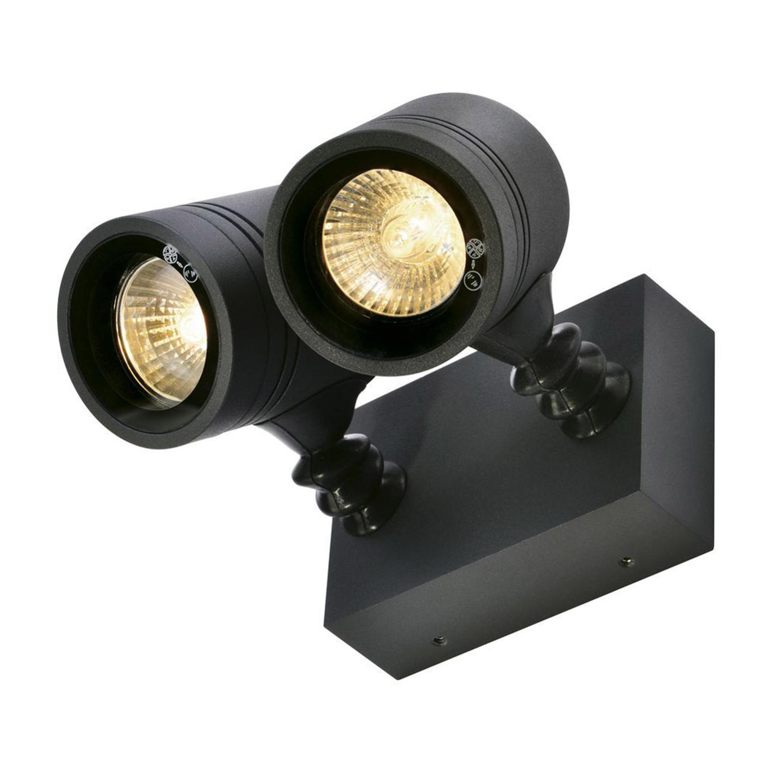 SLV Myra Außenwandlampe, 2-flammig, anthrazit
